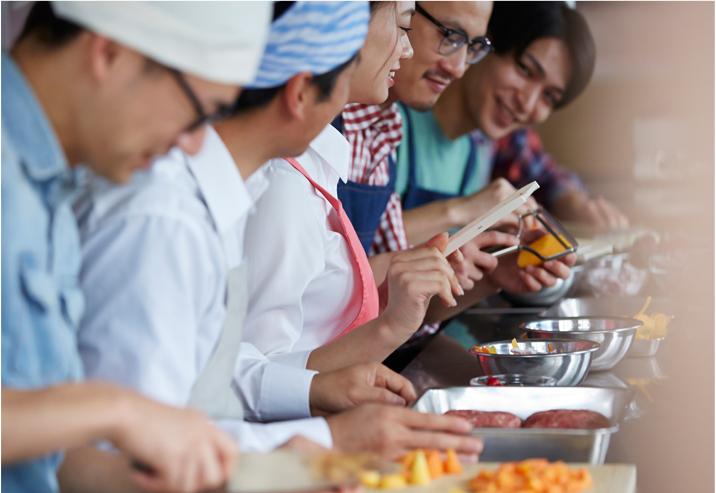 4.お料理初心者はもちろん、男性の方にも丁寧に一から教えます